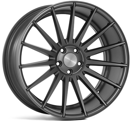 "NEW 19"" VEEMANN VC7 (VM2) DEEP CONCAVE ALLOY WHEELS IN DARK SATIN GUNMETAL"